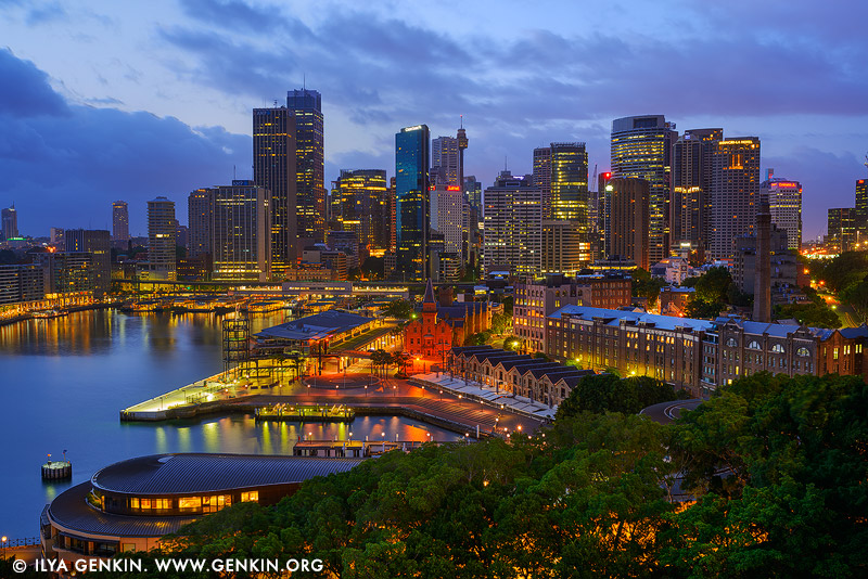 australia stock photography | Circular Quay and The Rocks at Dawn, Sydney, New South Wales (NSW), Australia, Image ID AU-SYDNEY-CIRCULAR-QUAY-0014