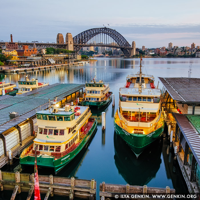 australia stock photography | Harbour Bridge and Circular Quay Early in the Morning, Sydney, New South Wales (NSW), Australia, Image ID AU-SYDNEY-CIRCULAR-QUAY-0015