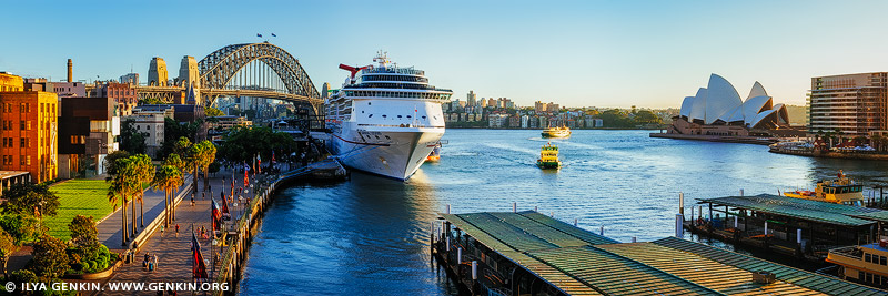 australia stock photography | Cruise Ship at Circular Quay in the Morning, Sydney, New South Wales (NSW), Australia, Image ID AU-SYDNEY-CIRCULAR-QUAY-0016