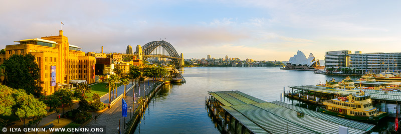 australia stock photography | Circular Quay at Sunrise, Sydney, New South Wales (NSW), Australia, Image ID AU-SYDNEY-CIRCULAR-QUAY-0017