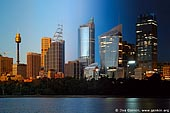 australia stock photography | Sydney City at Night and Sunset, Sydney, New South Wales, Australia, Image ID AUSY0033.