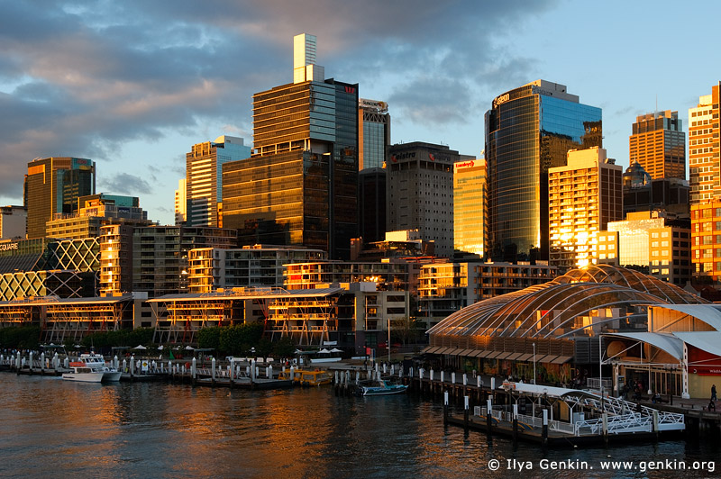 australia stock photography | Sydney City at Sunset, Darling Harbour, Sydney, New South Wales, Australia, Image ID AU-SYDNEY-0001