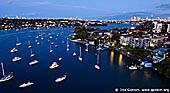 australia stock photography | Parramatta River and Drummoyne After Sunset, Gladesville Bridge, Sydney, New South Wales (NSW), Australia, Image ID AU-SYDNEY-0002.