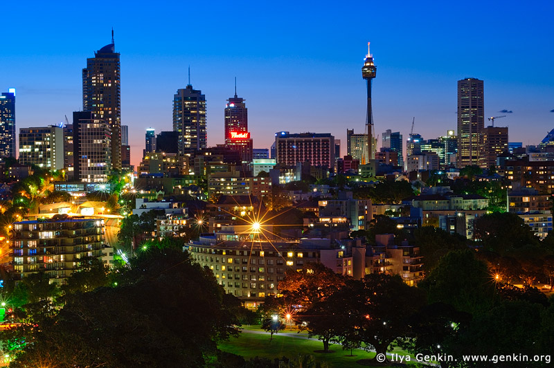 australia stock photography | Sydney City at Dusk, Rushcutters Bay, Sydney, New South Wales, Australia, Image ID AU-SYDNEY-0003