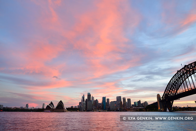 australia stock photography | Vivid Sunset Over The Sydney City CBD, Sydney, NSW, Australia, Image ID AU-SYDNEY-0014