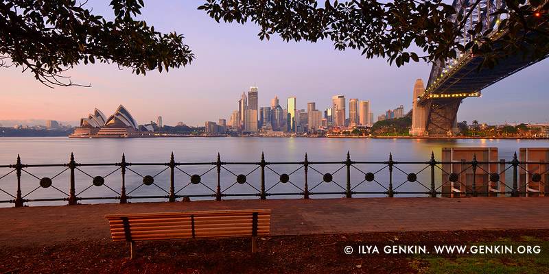 australia stock photography | The Sydney City CBD at Sunrise from Kirribilli, Sydney, NSW, Australia