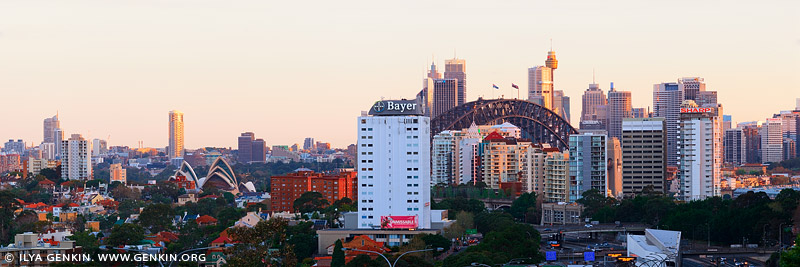 australia stock photography | Sydney City at Sunset, North Sydney, NSW, Australia, Image ID AU-SYDNEY-0020