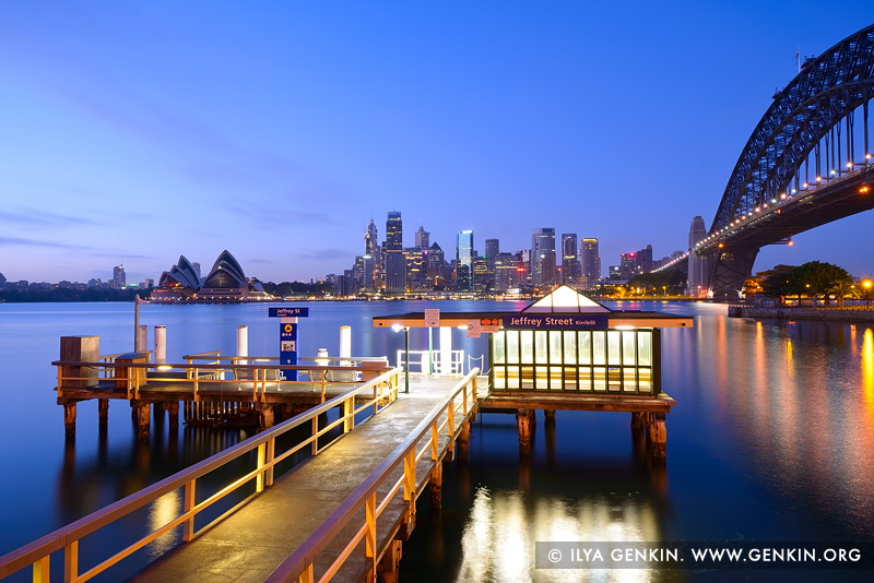 australia stock photography | Jeffrey Street Wharf at Twilight, Kirribilli, Sydney, NSW, Australia, Image ID AU-SYDNEY-0022