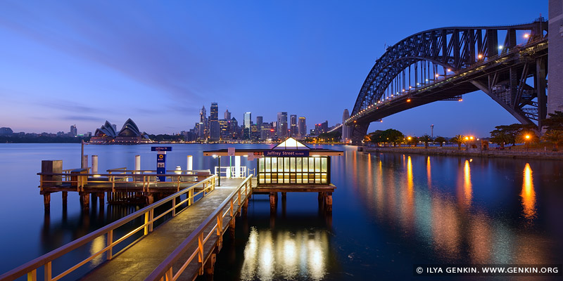 australia stock photography | Jeffrey Street Wharf at Dawn, Kirribilli, Sydney, NSW, Australia