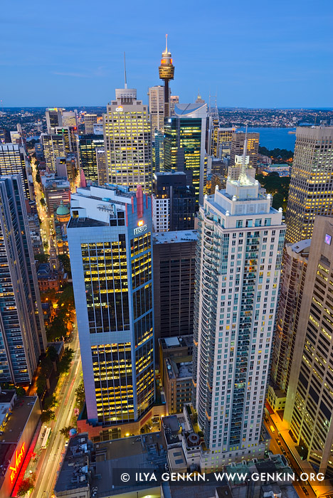 australia stock photography | City of Sydney at Twilight from Above, Sydney, NSW, Australia, Image ID AU-SYDNEY-0029