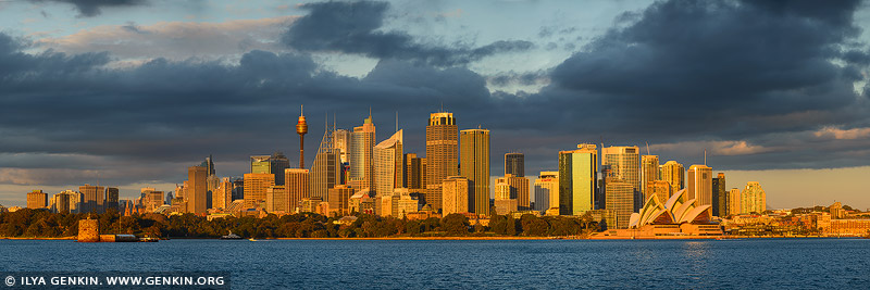 australia stock photography | The Sydney City Panorama at Sunrise, Sydney, NSW, Australia, Image ID AU-SYDNEY-0031