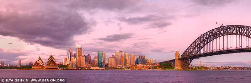 australia stock photography | Sydney City Panorama at Twilight, A View from Kirribilli, Sydney, NSW, Australia, Image ID AU-SYDNEY-0032