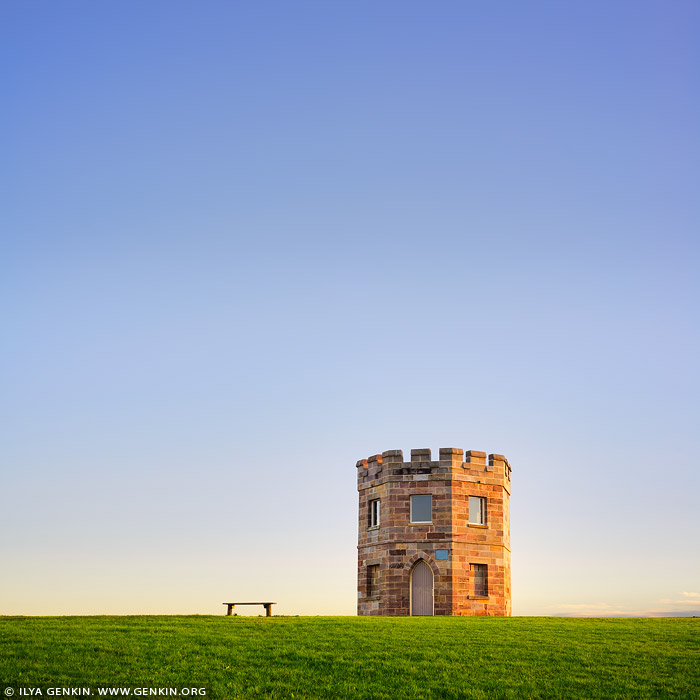 australia stock photography | Customs Tower and the Bench, La Perouse, Botany Bay, Sydney, NSW, Australia