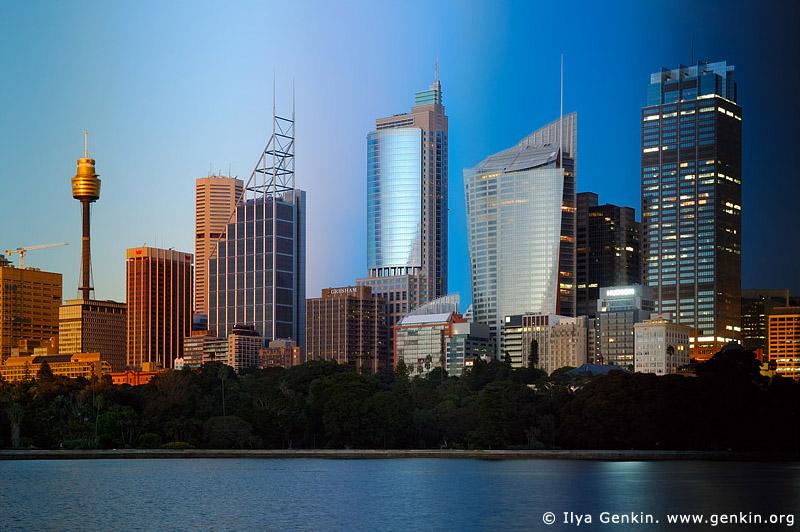 australia stock photography | Sydney City at Night and Sunset, Sydney, New South Wales, Australia, Image ID AUSY0032