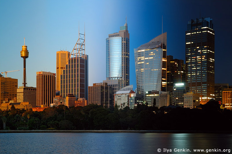australia stock photography | Sydney City at Night and Sunset, Sydney, New South Wales, Australia, Image ID AUSY0033