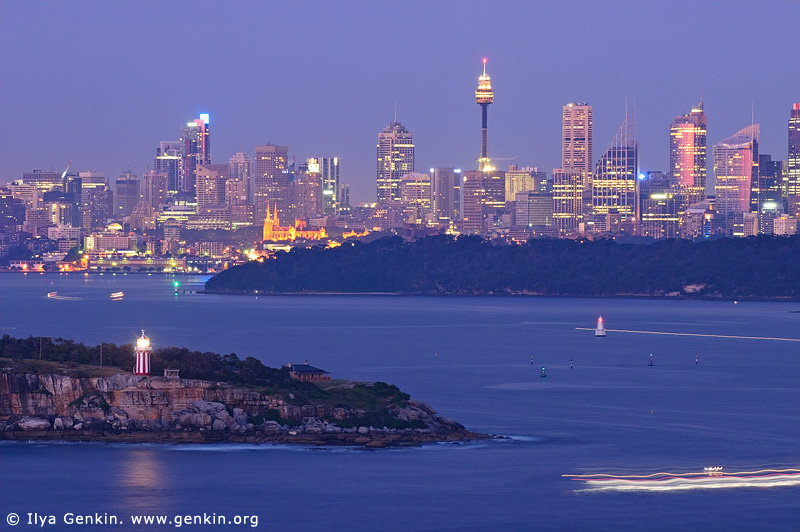 australia stock photography | Sydney City at Dawn, View from North Head, Sydney, NSW, Australia, Image ID AUSY0068