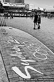 australia stock photography | Sydney Olympic Games 2000 Sign, Darling Harbour, Sydney, NSW, Australia, Image ID AU-SYDNEY-DARLING-HARBOUR-0022. Stock black and white photo of the Sydney Olympic Games in Darling Harbour, Sydney, NSW, Australia.