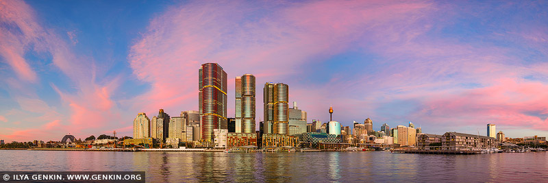 australia stock photography | Vivid Sunset at Barangaroo, Sydney, New South Wales, Australia, Image ID AU-SYDNEY-BARANGAROO-0003