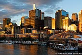australia stock photography | Darling Harbour at Sunset, Sydney, New South Wales, Australia, Image ID AU-SYDNEY-DARLING-HARBOUR-0004. Stock image of the Sydney central business district (downtown) from the Darling Harbour at colourful sunset.
