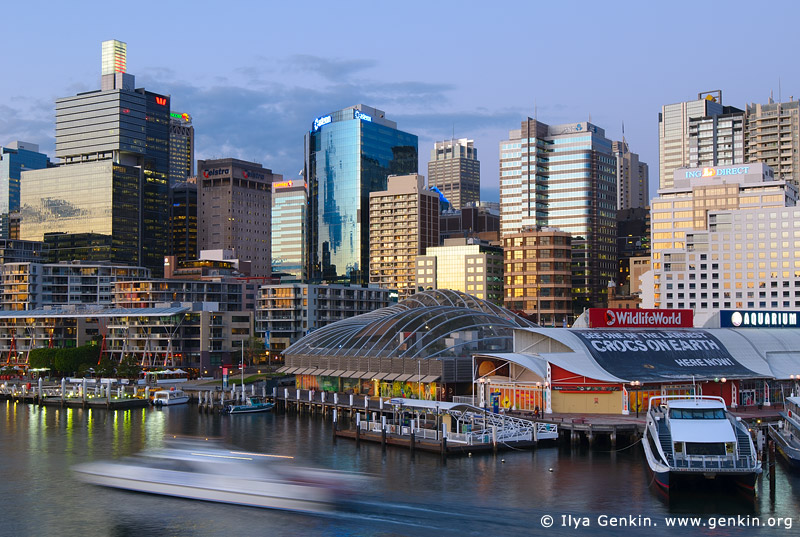 australia stock photography | Darling Harbour at Twilight, Sydney, New South Wales, Australia, Image ID AU-SYDNEY-DARLING-HARBOUR-0015