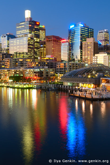 australia stock photography | Darling Harbour after Sunset, Sydney, New South Wales, Australia, Image ID AU-SYDNEY-DARLING-HARBOUR-0016