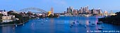 australia stock photography | Panoramic View of Sydney City at Dusk, A View from Waverton, Sydney, NSW, Australia, Image ID AU-SYDNEY-HARBOUR-BRIDGE-0007. The Larkin Street lookout is located near the Balls Head, at the end of Larkin Street, Waverton. It offers stunning panorama view to the Sydney Harbour, city and the Harbour Bridge. The best time for visiting this place is right before after sunset.
