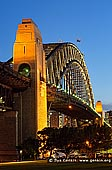 australia stock photography | Sydney Harbour Bridge at Night from Bradfield Park, Sydney, New South Wales (NSW), Australia, Image ID AU-SYDNEY-HARBOUR-BRIDGE-0019. Bradfield Park in Milsons Point, Sydney, Australia is a large park with grandstand views of Sydney Harbour, the Sydney Harbour Bridge and the city. The picturesque Bradfield Park is a great place for walking, picnicking, lying in the sun, and photo opportunities of the Bridge and Harbour. This park is next to North Sydney Olympic Pool and Luna Park.
