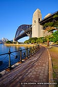 australia stock photography | Sydney Harbour Bridge in the Morning, Kirribilli, NSW, Australia, Image ID AU-SYDNEY-HARBOUR-BRIDGE-0034. Vertical stock image of the Sydney Harbour Bridge in the morning from Kirribilli, NSW, Australia with some space at the top and bottom for any text.