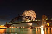 australia stock photography | New Year Eve Fireworks over Sydney Harbour Bridge, View from Kirribilli, Sydney, New South Wales, Australia, Image ID AUHB0001.
