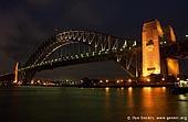 australia stock photography | Harbour Bridge at Night from Kirribilli, Sydney, New South Wales, Australia, Image ID AUHB0002.