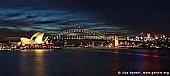 australia stock photography | Harbour Bridge and Opera House at Night, View from Mrs.Macquaries Chair, Sydney, New South Wales, Australia, Image ID AUHB0005.
