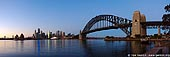 australia stock photography | Panorama of the Sydney Harbour and Queen Elizabeth 2 in Sydney International Terminal Before Sunrise, Sydney, New South Wales, Australia, Image ID AUHB0020.