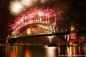 australia stock photography | New Year Eve Fireworks over Sydney Harbour Bridge, View from Kirribilli, Sydney, New South Wales, Australia, Image ID AUHB0023.