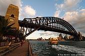 australia stock photography | Harbour Bridge at Sunset from Luna Park, Sydney, New South Wales, Australia, Image ID AUHB0029.