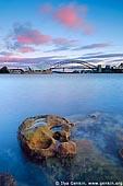 australia stock photography | The Sydney Opera House and the Harbour Bridge at Dawn, Sydney, NSW, Australia, Image ID AUHB0033.