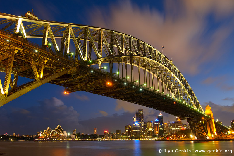 australia stock photography | Sydney Harbour Bridge at Night, Sydney, New South Wales (NSW), Australia, Image ID AU-SYDNEY-HARBOUR-BRIDGE-0009