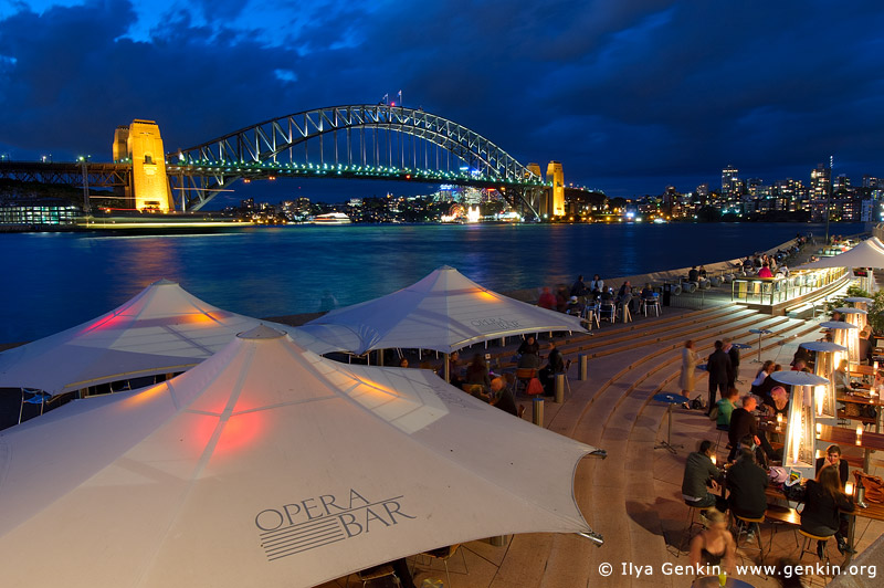 australia stock photography | Dinning at Opera Bar With Harbour Bridge View, Sydney, New South Wales (NSW), Australia, Image ID AU-SYDNEY-HARBOUR-BRIDGE-0010
