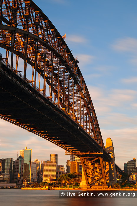 australia stock photography | Sydney Harbour Bridge at Sunrise, Sydney, New South Wales (NSW), Australia, Image ID AU-SYDNEY-HARBOUR-BRIDGE-0016