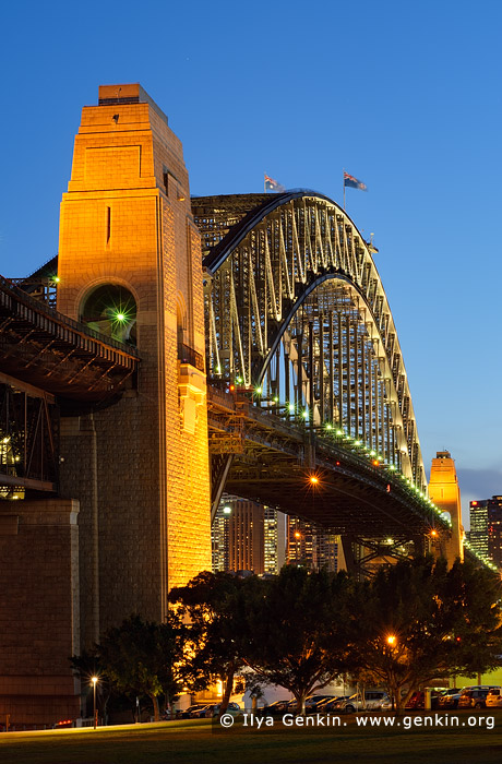 australia stock photography | Sydney Harbour Bridge at Night from Bradfield Park, Sydney, New South Wales (NSW), Australia, Image ID AU-SYDNEY-HARBOUR-BRIDGE-0019