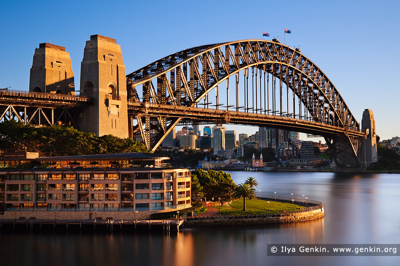australia stock photography | Sydney Harbour Bridge and The Park Hyatt Hotel in the Morning, Sydney, New South Wales (NSW), Australia, Image ID AU-SYDNEY-HARBOUR-BRIDGE-0022