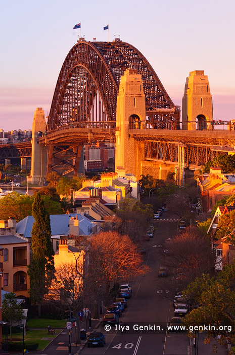australia stock photography | Sydney Harbour Bridge in the Evening from Observatory Hill, Sydney, New South Wales (NSW), Australia