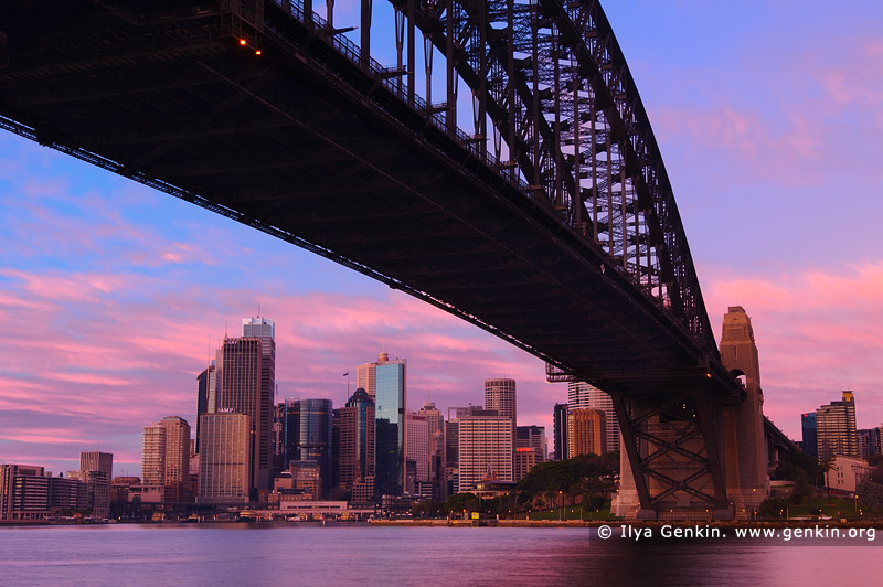 australia stock photography | Vivid Twilight at Sydney Harbour Bridge, Sydney, New South Wales (NSW), Australia, Image ID AU-SYDNEY-HARBOUR-BRIDGE-0024