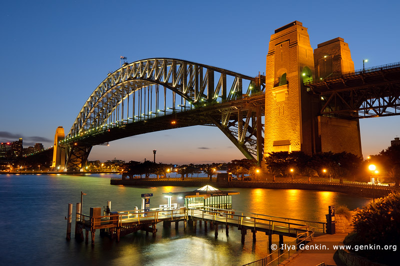 australia stock photography | Harbour Bridge from Kirribilli after Sunset, Sydney, New South Wales (NSW), Australia, Image ID AU-SYDNEY-HARBOUR-BRIDGE-0025