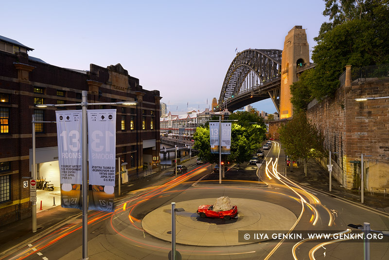 australia stock photography | Sydney Harbour Bridge at Dusk from Finger Wharf, Sydney, New South Wales (NSW), Australia