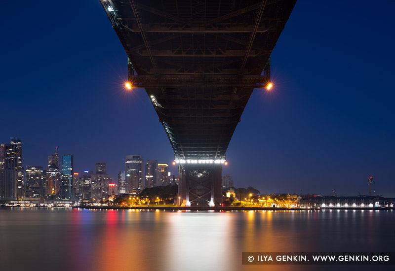 australia stock photography | Under The Harbour Bridge at Night, Sydney, New South Wales (NSW), Australia, Image ID AU-SYDNEY-HARBOUR-BRIDGE-0031