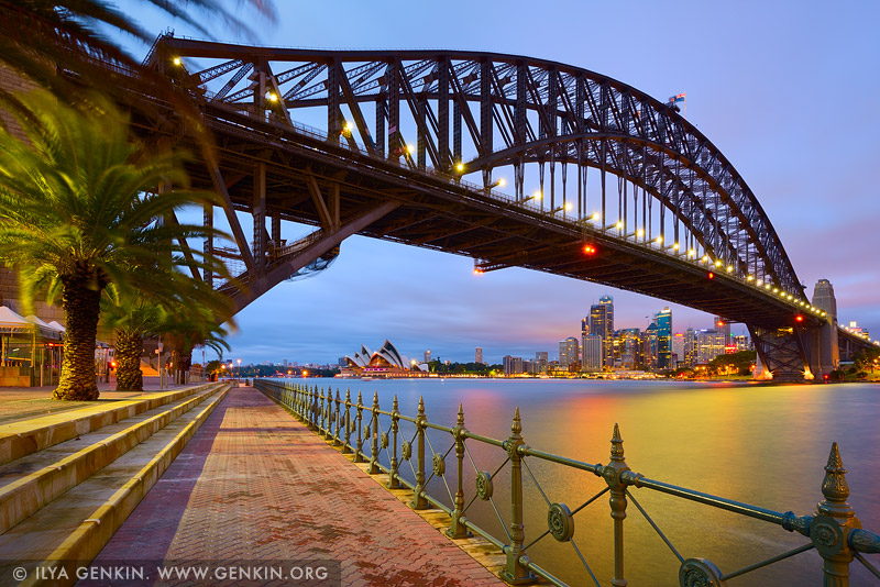australia stock photography | Sydney Opera House and Harbour Bridge, Milsons Point, Sydney, NSW, Australia, Image ID AU-SYDNEY-HARBOUR-BRIDGE-0036