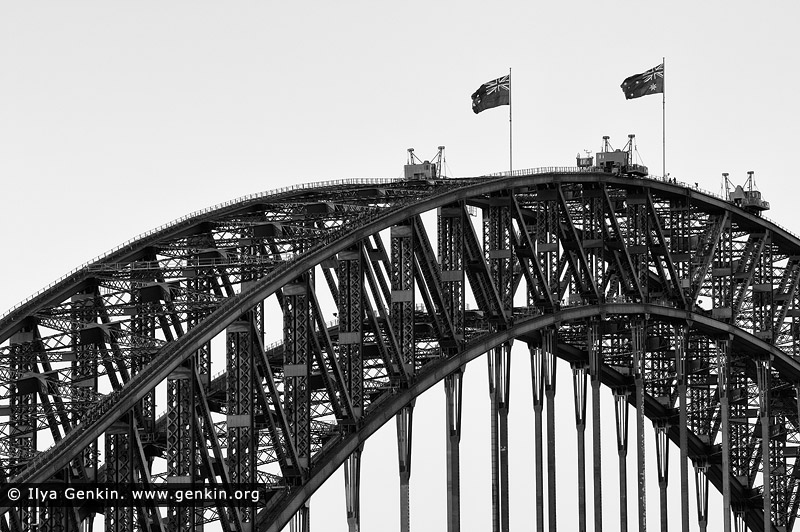 Sydney harbour bridge arches in black and white photos for Landscape design jobs sydney