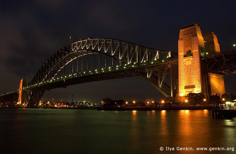 australia stock photography | Harbour Bridge at Night from Kirribilli, Sydney, New South Wales, Australia, Image ID AUHB0002