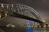 australia stock photography | Harbour Bridge at Night from Luna Park, Sydney, New South Wales, Australia, Image ID AUHB0003.