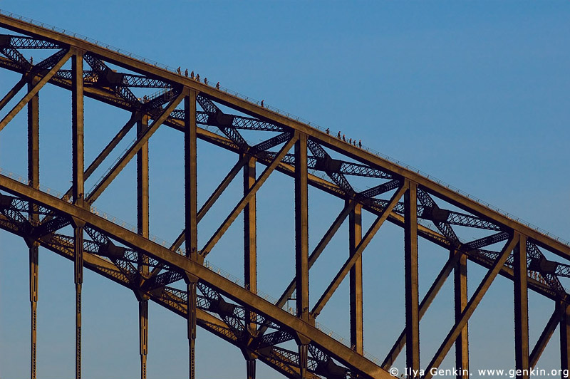 australia stock photography | Bridge Climbers on The Harbour Bridge, Sydney, New South Wales, Australia, Image ID AUHB0007